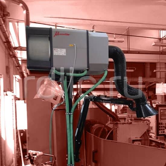 Применение фильтра удаления масляного тумана / паров СОЖ Kube на универсальных станках