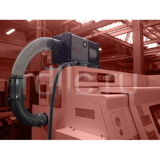 Горизонтальная установка фильтра удаления масляного тумана / паров СОЖ Kube на токарном центре с ЧПУ Mazak