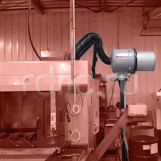 Уловитель (сепаратор) масляного тумана / паров СОЖ турбинного типа Microil