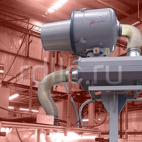 Уловитель (сепаратор) масляного тумана турбинного типа Microil.