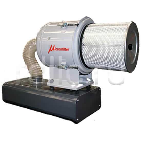 Уловитель (сепаратор) масляного тумана / паров СОЖ турбинного типа Microil. Фильтр предварительной и окончательной фильтрации HEPA