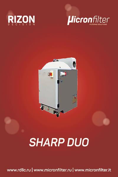 Фильтр-пылеуловитель для удаления металлической пыли Sharp DUO: Описание | Принцип действия | Технические характеристики
