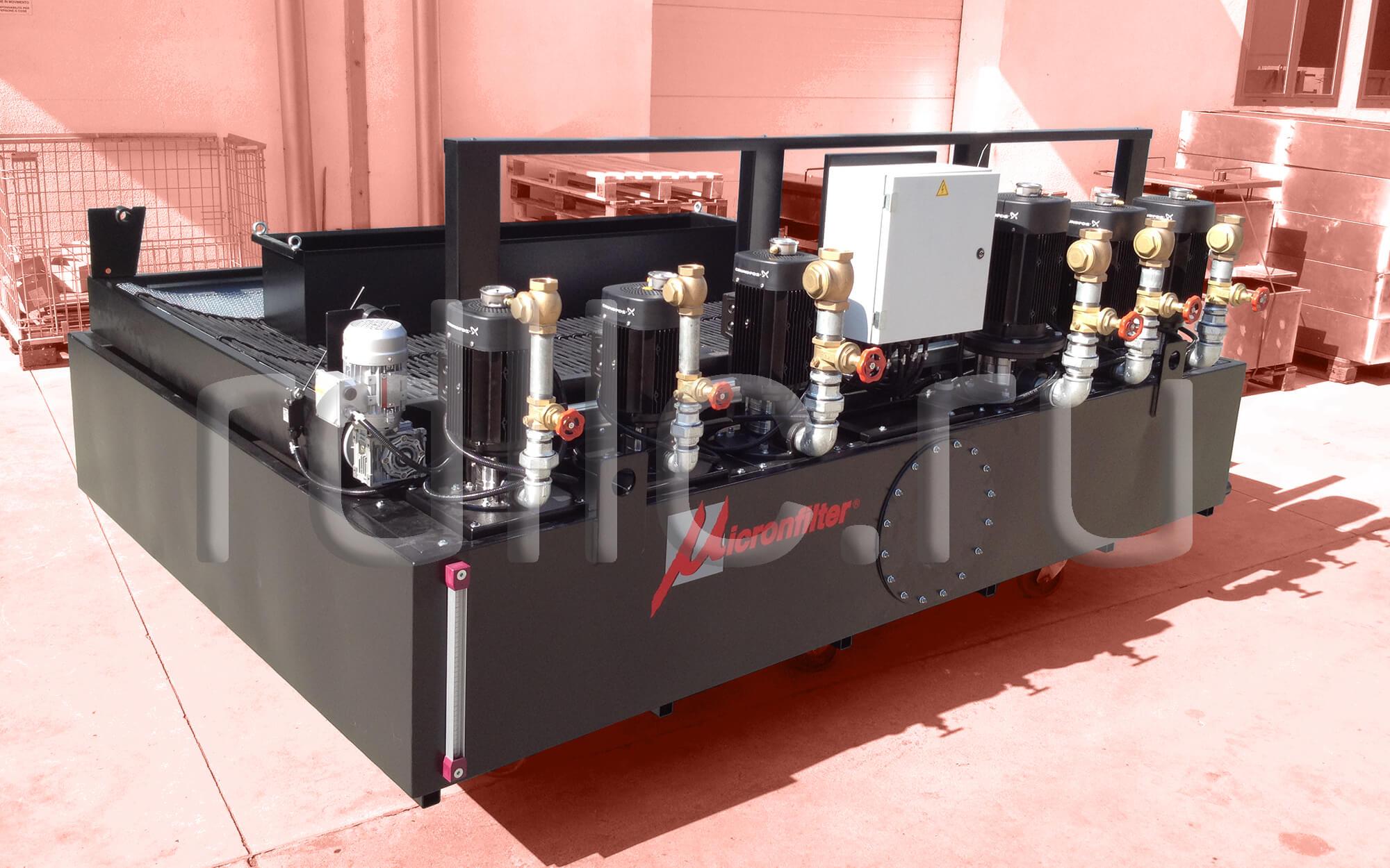 Фильтр очистки СОЖ гравитационного типа Easyband 400 с предустановленным магнитным сепаратором СОЖ Kalamit 400 для двухколонного шлифовального станка Favretto)