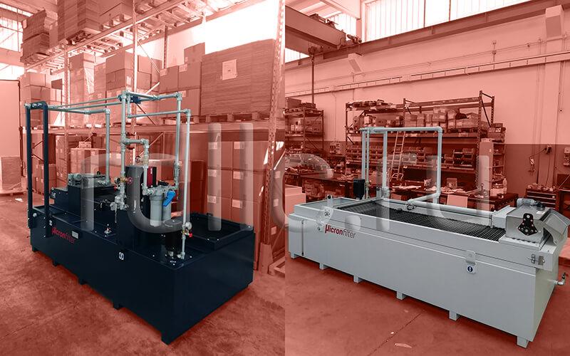 Фильтр очистки СОЖ гравитационного типа Easyband с предустановленным магнитным сепаратором СОЖ Kalamit