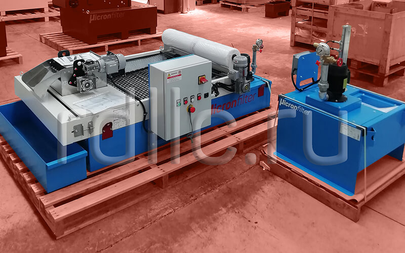 Фильтр очистки СОЖ гравитационного типа Easyband с предустановленным магнитным сепаратором СОЖ Kalamit и транзитным баком