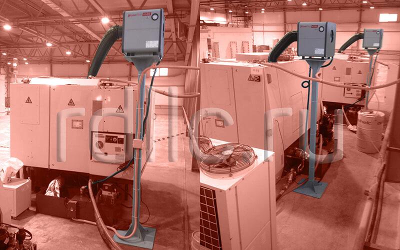 Применение фильтра удаления масляного тумана (паров СОЖ) Kube на высокопроизводительном заточном станке ANCA MX7 Linear