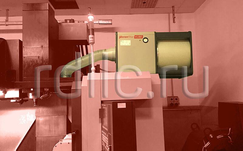 Фильтр удаления масляного тумана (паров СОЖ) Kube: применение дефлектора при высоком давлении и близком расположении подачи СОЖ