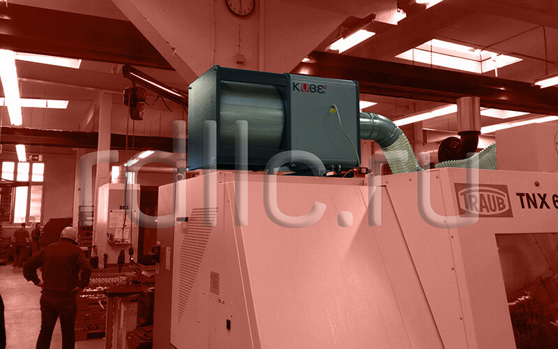 Применение фильтра удаления масляного тумана (паров СОЖ) Kube на токарно-фрезерном центре TRAUB TNX