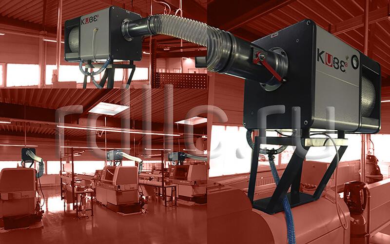Применение фильтра удаления масляного тумана (паров СОЖ) Kube на токарном автомате продольного точения Star Micronics