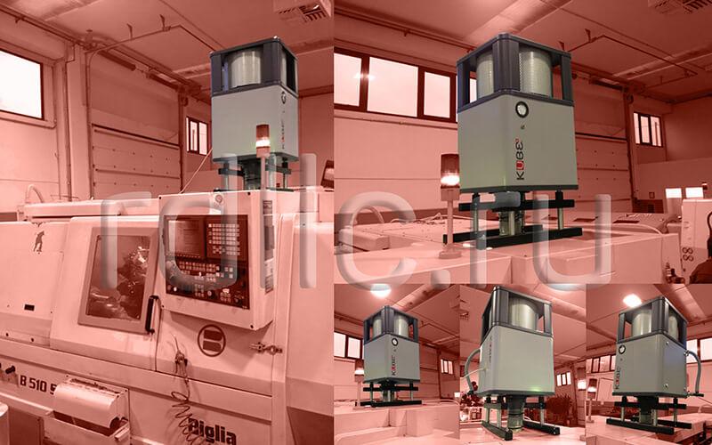 Применение фильтра удаления масляного тумана (паров СОЖ) Kube на токарном станке с ЧПУ BIGLIA