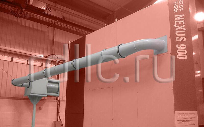 Применение фильтра удаления масляного тумана (паров СОЖ) Kube на вертикальном токарном центре с ЧПУ Mazak MEGA TURN 900