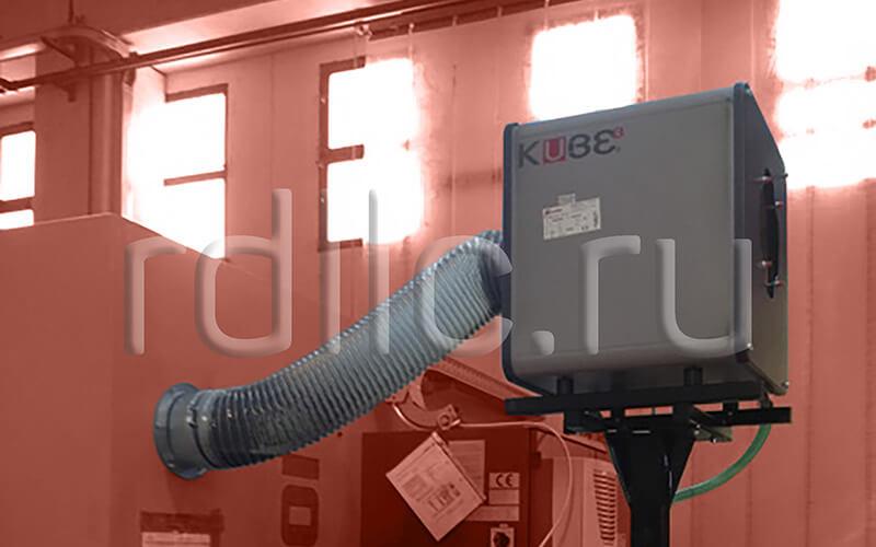 Применение фильтра удаления масляного тумана (паров СОЖ) Kube на высокоточном универсальном фрезерном центре Chiron M3000