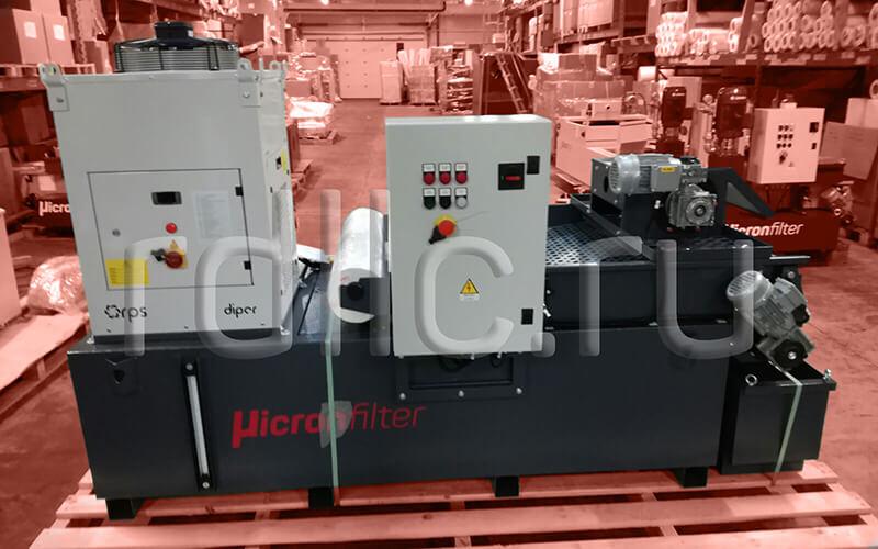 Фильтр очистки СОЖ гравитационного типа Evotech 1000 с предустановленным магнитным сепаратором СОЖ Kalamit 200 и чиллером для охлаждения СОЖ для высокоточного шлифовального станка