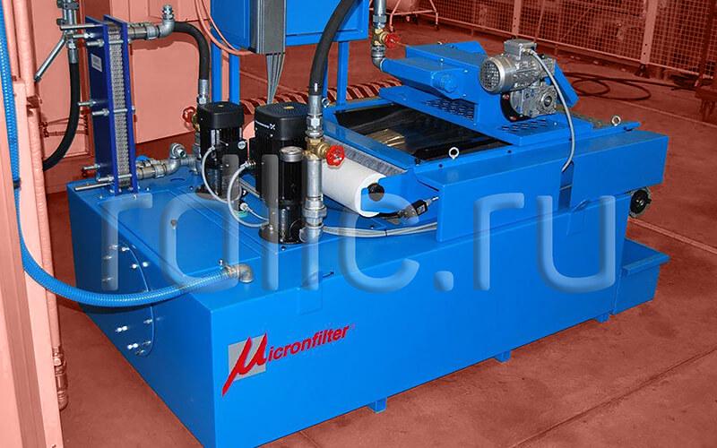 Фильтр очистки СОЖ гравитационного типа Evotech 700 с предустановленным магнитным сепаратором СОЖ Kalamit и теплообменником