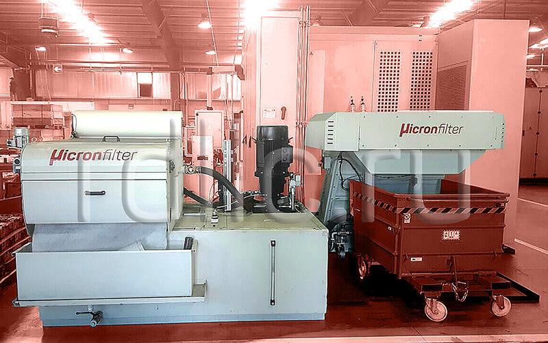 Фильтр очистки СОЖ гравитационного типа Evotech PRO с конвейером для удаления и механической обработки сухой и влажной стружки