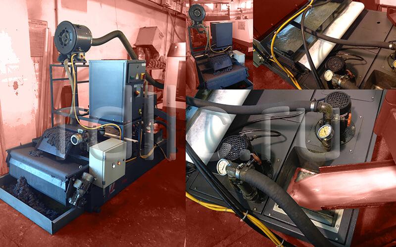 Фильтр очистки СОЖ гравитационного типа Evotech с предустановленным магнитным сепаратором СОЖ Kalamit и уловителем (сепаратором) масляного тумана (паров СОЖ) турбинного типа Microil