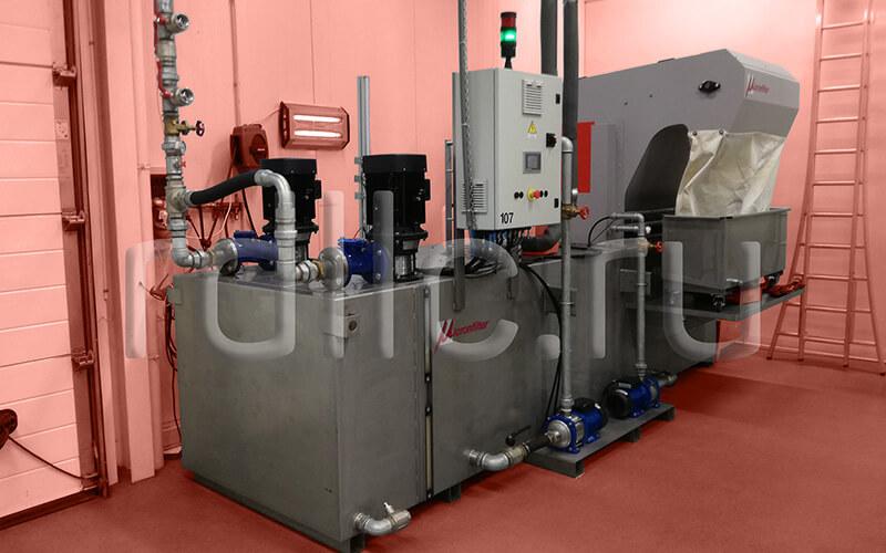 Самоочищающаяся установка фильтрации СОЖ барабанного типа Spin из нержавеющей стали