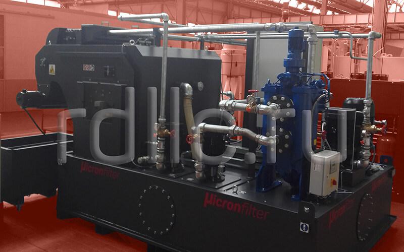Самоочищающаяся установка фильтрации СОЖ барабанного типа Spin с предустановленным магнитным сепаратором СОЖ Kalamit и оснащенная станцией подачи СОЖ высокого давления