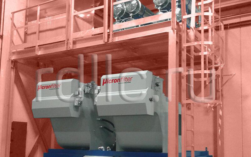 Самоочищающаяся установка фильтрации СОЖ барабанного типа Spin (тандемное исполнение) с предустановленным магнитным сепаратором СОЖ Kalamit и модулем суперфильтрации СОЖ Oil Clean