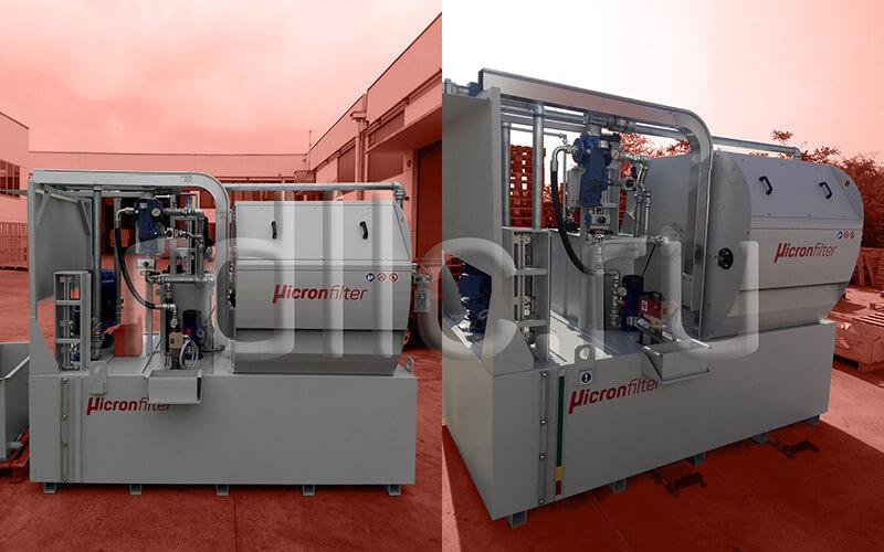 Установка фильтрации СОЖ гравитационного типа Maxflow 1000 оснащенная станцией подачи СОЖ высокого давления и скиммером для удаления масляной пленки