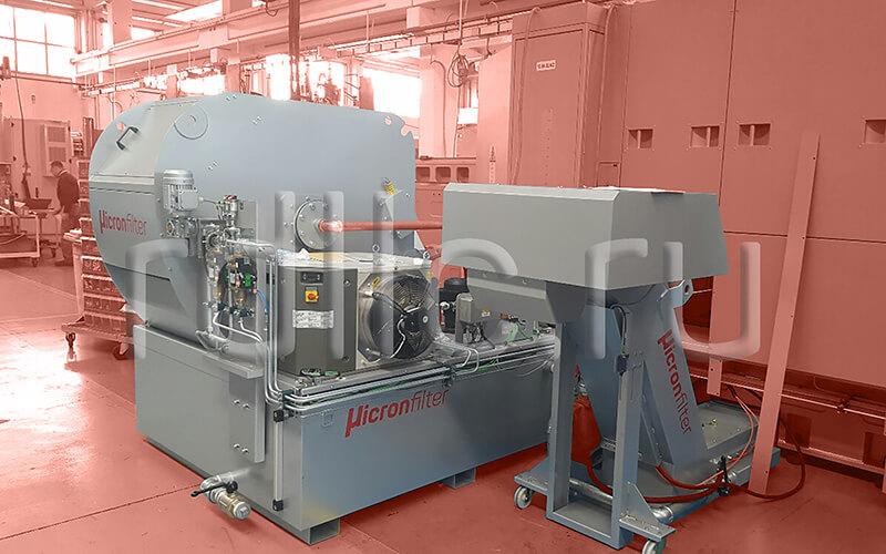 Установка фильтрации СОЖ гравитационного типа Maxflow 1000 с чиллером для охлаждения СОЖ и конвейером для удаления и механической обработки сухой и влажной стружки