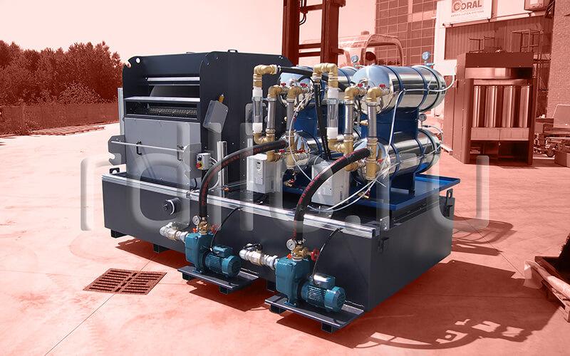 Установка фильтрации СОЖ гравитационного типа Maxflow с предустановленным модулем суперфильтрации СОЖ Oil Clean_Brembo